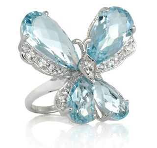 Rarities Fine Jewelry with Carol Brodie Blue Topaz and White Topa Ring