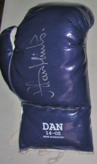 Alan Minter Authentic Signed Auto Autographed Boxing Glove JSA COA LOA