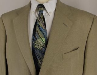 46 L Austin Reed Light Olive Lyocell 2 Button Sport Coat Jacket Suit