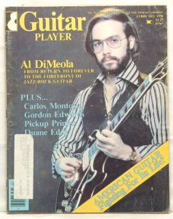 Guitar Player Magazine Al Di Meola Carlos Montoya Duane Eddy Very RARE