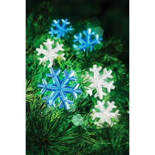 New Holiday Time LED Snowflake Christmas Lights Set   60 Count Cool