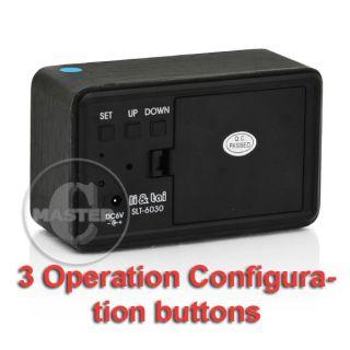 Digital C F Blue LED Wood Black Walnut USB Alarm Clock 100 60