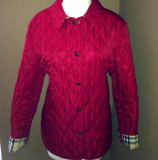 Burberry Jacket/Coat Nova Check Lining Authentic Red Size Medium