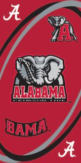 Alabama Crimson Tide 30X60 License Official Beach Towel NCAA College