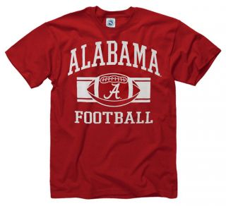 Alabama Crimson Tide Crimson Wide Stripe Football T Shirt