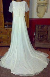 Alfred Angelo Ivory Chiffon Wedding Dress Size 8 10
