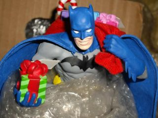 Batman 2009 Fabriche Kurt Adler Santa with Presents Christmas Figurine