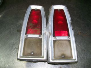 1966 Chevrolet Chevy II Nova Tail Light Assemblies Used
