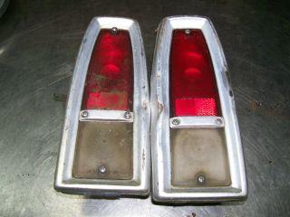 1966 Chevrolet Chevy II Nova Tail Light Assemblies Used