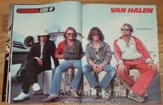All Van Halen Close Up Eddie David Lee Roth Alex Michael Anthony Creem