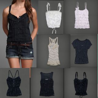 Super Cute Abercrombie Lace Ruffle Fashion Top Cami Tank Multi Styles