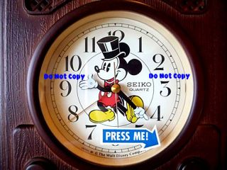NEW Disney Mickey Mouse Hollywood SEIKO Alarm Clock HTF