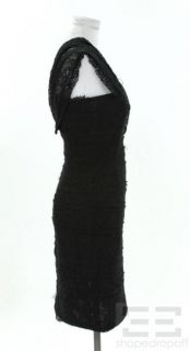 Alexander Wang Black Crochet Cross Strap Sheath Dress Size 6