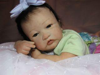 Reborn doll baby girl Alisha by Shelly Kneip