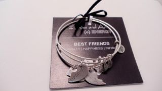 New Alex and Ani Best Friends Charm Adjustable Bracelet