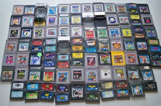 100 Nintendo Game Boy Color Advance Games Mario Land Tetris Paperboy