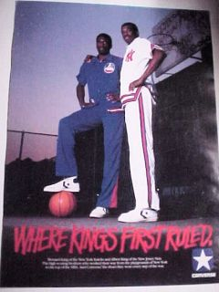 Albert and Bernard King Converse Nets Knicks Poster