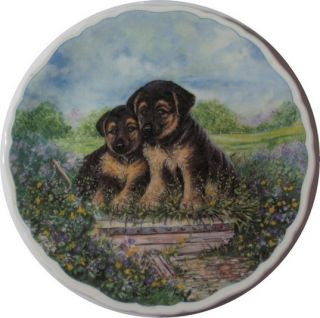 Royal Albert Playful Puppies German Shepherd Dogs Rags