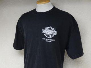 Vtg Harley Davidson T Shirt Los Algodones Mexico L