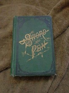 Vtg Antique Sword and Pen Book John Owens Civil War 1883