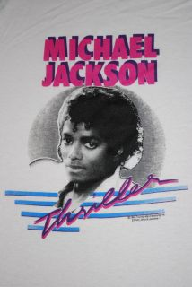 Original Vintage Michael Jackson Thriller Shirt 1984 XL