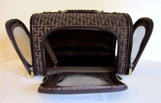 Pet Luggage Carrier Dog Cat Travel Design Bag Purse Case Brown