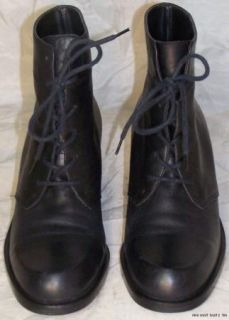 Women Shoes NINE WEST BOOTS Size 6M Leather Black