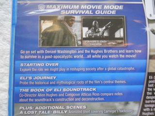 The Book of Eli (Blu ray Disc, 2010) Denzel Washington. AMAZING Film