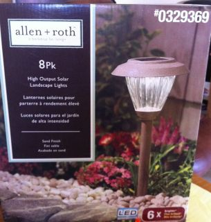 Allen & Roth High Output Solar Landscape LIghts 8 PACK Sand Finish