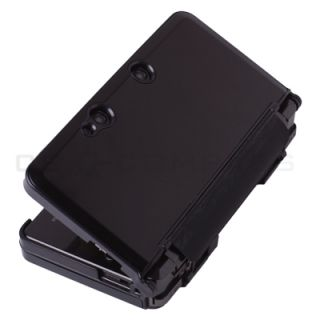 Black Metallic Style Hard Case Cover for Nintendo 3DS