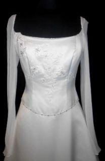 899 Ivory 10 Informal Wedding Dress Bridal Gown Barbara Allin