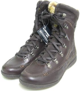 199 Mephisto Allrounder Gila Women Boot Brown Leather Lace Up Boots