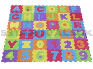 Kids Alphabet Numbers Play Mat Jigsaw Letters Soft Foam