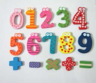 Wooden Magnet Letters Alphabet fridge Magnet Number Educational Toy