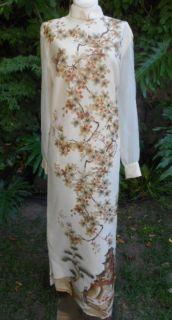 VTG ALFRED SHAHEEN 1960s ETHNIC INSPIRED Printed WOMENS DRESS