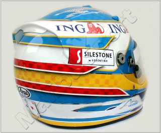 Fernando Alonso F1 2008 Replica Helmet Scale 1 1 New