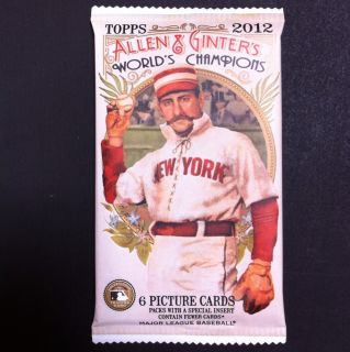 Auto Relic Colony Cut DNA Redemption Hot Pack 2012 Topps Allen Ginter