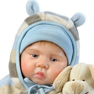 Ashton Drake Luca Lifelike Baby Doll with Free Plush
