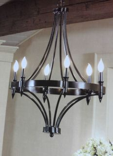BNIB ALLEN + ROTH 6 LIGHTS SPECIALTY BRONZE FINISH CHANDELIER