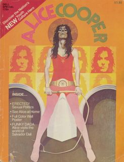 ALICE COOPER 1973 BILLION $ DOLLAR BABIES TOUR CONCERT MAGAZINE