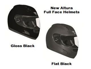 Vega Altura Full Face Motorcycle Street Bike Helmet Flat Black and
