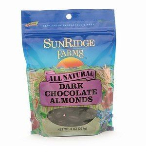 Sunridge Farms All Natural Dark Chocolate Almonds 8 oz 227 G