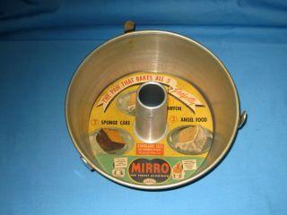 NOS MIRRO 2PC ALUMINUM 10 ROUND ANGEL BUNDT FOOD CAKE TUBE PAN 5394 M