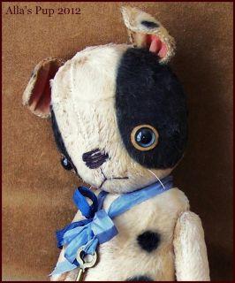 By Alla Bears 10 OOAK Artist Prim Vintage Old Puppy Dog Doll Toy Baby
