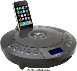 iPhone iPod FM Radio Receiver with CD Player Alarm Clock