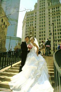 Amalia Carrara Ivory Wedding Dress Style A22 Slik Swarovski Crystals