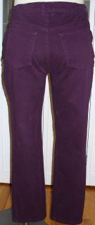 Gloria Vanderbilt Amanda Purple Jeans 12 Short 28 Insm Stretch Pants