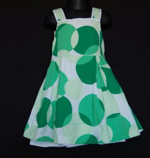 Childrens Place Green White Polka Dot Easter Twirl Dress Size 3T Kid