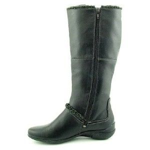 120 Hush Puppies Amarone Women Black Faux Leather Knee High Boot Sz 7