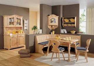 Amberg Quality Solid Wood Dining Furniture Corner Bench Kitchen Booth